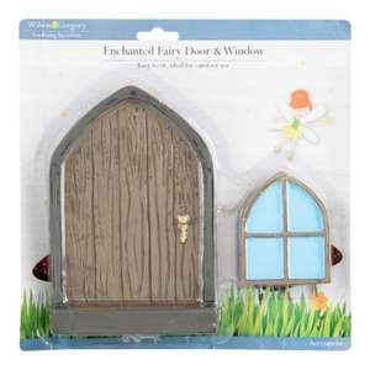 FAIRY GARDEN Items - Large Fairy Door & Window Set for £1 @ Poundland