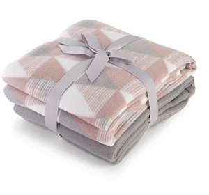 20% off Selected Living Room Item Orders w/code @ Asda Eg Geometric Pattern Fleece Throws 150 x 120 cm 2 Pack £4.80 (Free Click & Collect)