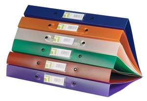 Q-Connect KF02488 2-Ring Binder A4 Frosted Assorted (Pack of 12) - £6.67 (Prime) £11.16 (Non-Prime) @ Amazon