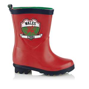 Red Welsh Dragon Wellies (kids' size 5 - 10) - £2 @ Asda George (free C&C or +£2.95 delivery)