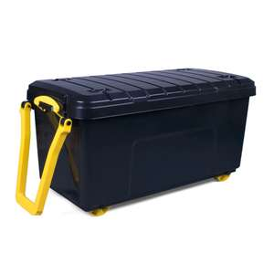160L Really Useful Black Large Plastic Wheeled Trunk £20 @ Wickes - Free C&C