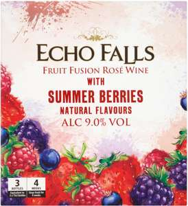 Echo Falls Fruit Fusion Rose Wine with Summer Berries 2.25L Box (equivalent to 3 bottles) - £10 Asda