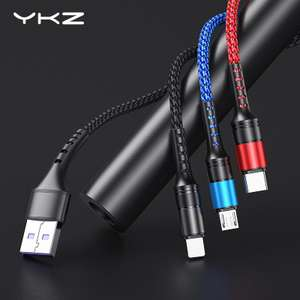 YKZ 3 in 1 Micro USB + Type C + Apple 8 Pin Charging Cable £1.68 @ Aliexpress / YKZ Official Store
