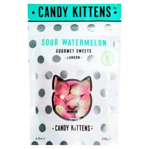 Candy Kittens Vegan Gourmet Sweets - Sour Watermelon, 138g (Single) - £1.28 @ Amazon (Add on item)