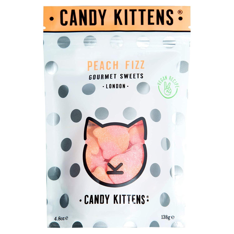Candy Kittens Vegan Gourmet Sweets - Peach Fizz 138g (Single) - £1.60 add-on item @ Amazon