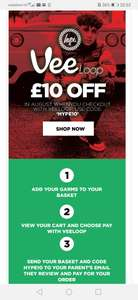 Get £10 off your basket using voucher code @ Just Hype (£25 minimum spend and £2.49 delivery )