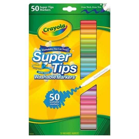 Crayola washable felt tips pack of 50 £5 Tesco