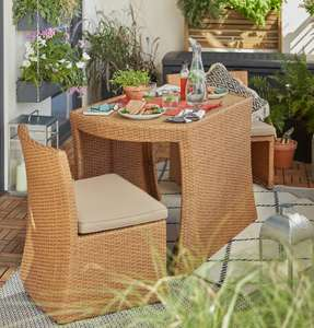 Platia Rattan effect 2 seater Garden table and chairs £50 @ B&Q (Free C&C)
