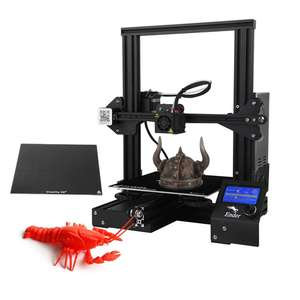 Creality 3D Ender 3X 3D Printer - MK-10 Extruder / Glass Plate / 220x220x250mm Print Area / DE Warehouse - £146.26 Delivered @ Tomtop