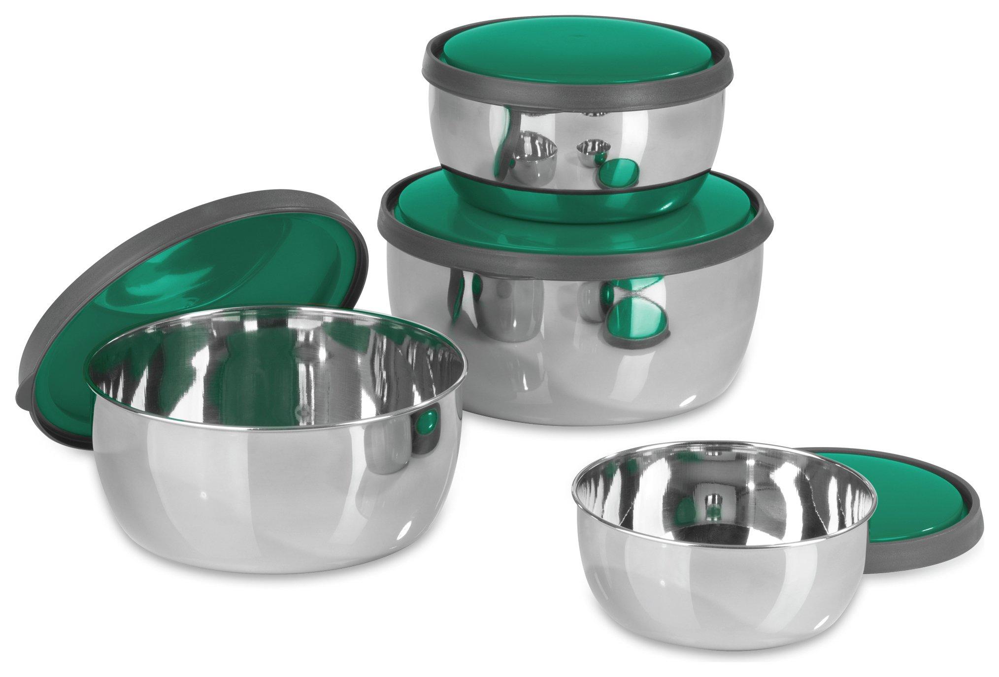 GOURMETmaxx 4 Piece Stainless Steel Bowl Set £6.50 @ Argos (Free C&C) 2 Year Guarantee