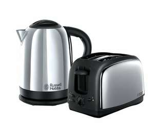 Russell Hobbs Lincoln Kettle and 2-Slice Toaster 21830 – Polished Stainless Steel Silver - £37.50 delivered @ Tooltime
