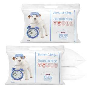 Boston Duvet & Pillo Co - 2 Pack of Hollowfibre Pillows on BOGOF - 4 Pillows for £7.99 Delivered @ Sleepseeker