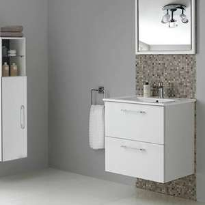 Argos Home Flotante 2 Drawer Vanity Unit in Gloss White - Including Basin £106.95 Delivered @ Argos