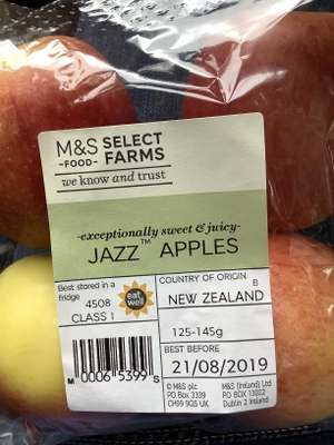 4 Jazz Apples 0.65p at M&S instore
