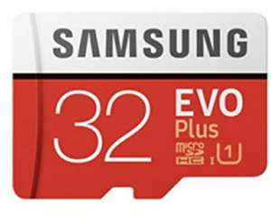 Samsung Memory Evo Plus 32GB Micro SDHC Card 95MB/s UHS-I U1 Class 10 with Adapter For £4.99 @ Base