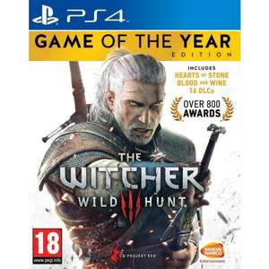 The Witcher 3: Wild Hunt Game of the Year Edition PS4 £12.95 Delivered @ The Game Collection