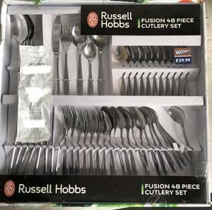 Russell Hobbs Fusion 48 Piece Cutlery Set was £29.99 now £10.00 instore @ B&M