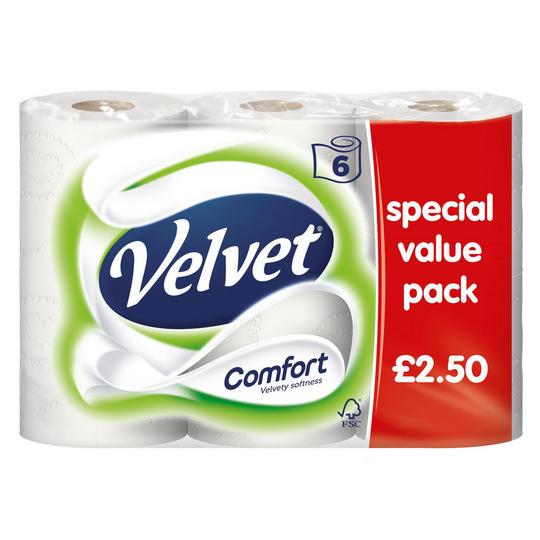 6 x Velvet Comfort Toilet rolls £2 @ Iceland