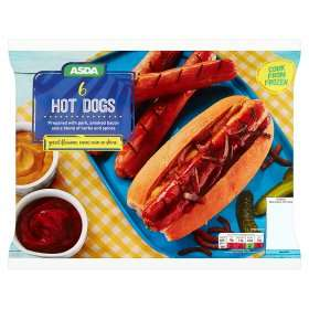 Asda-6 Hot Dogs/Cheese Dogs-600g-Frozen-£1.50 was £2.00