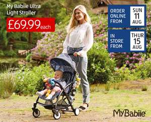 Aldi baby event starts online 11/8, instore 15/8 e.g. compact pushchair £69.99, 360 swivel highchair £34.99, breast pump £4.99