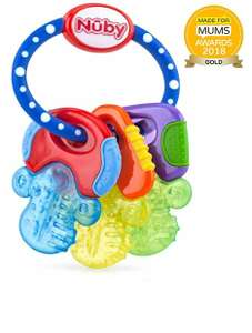 Nuby Icy Bite Keys Teether, Multi - £3.50 Prime / +£4.49 non Prime @ Amazon (pink available as add-on item)