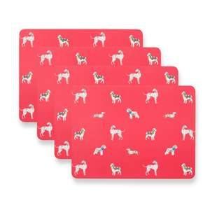 Laura Ashley Dogs on Parade Corkback Placemats Set of 4 was £18.00 now £5 / £9.50 delivered (Free C & C)