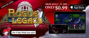 Rogue Legacy 99p on iOS App Store for 2 days