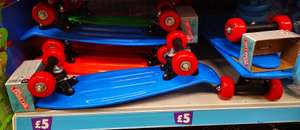Mini Skateboard, Green, Orange, Or Blue, In Store £5 @ Poundland (Trongate, Glasgow)