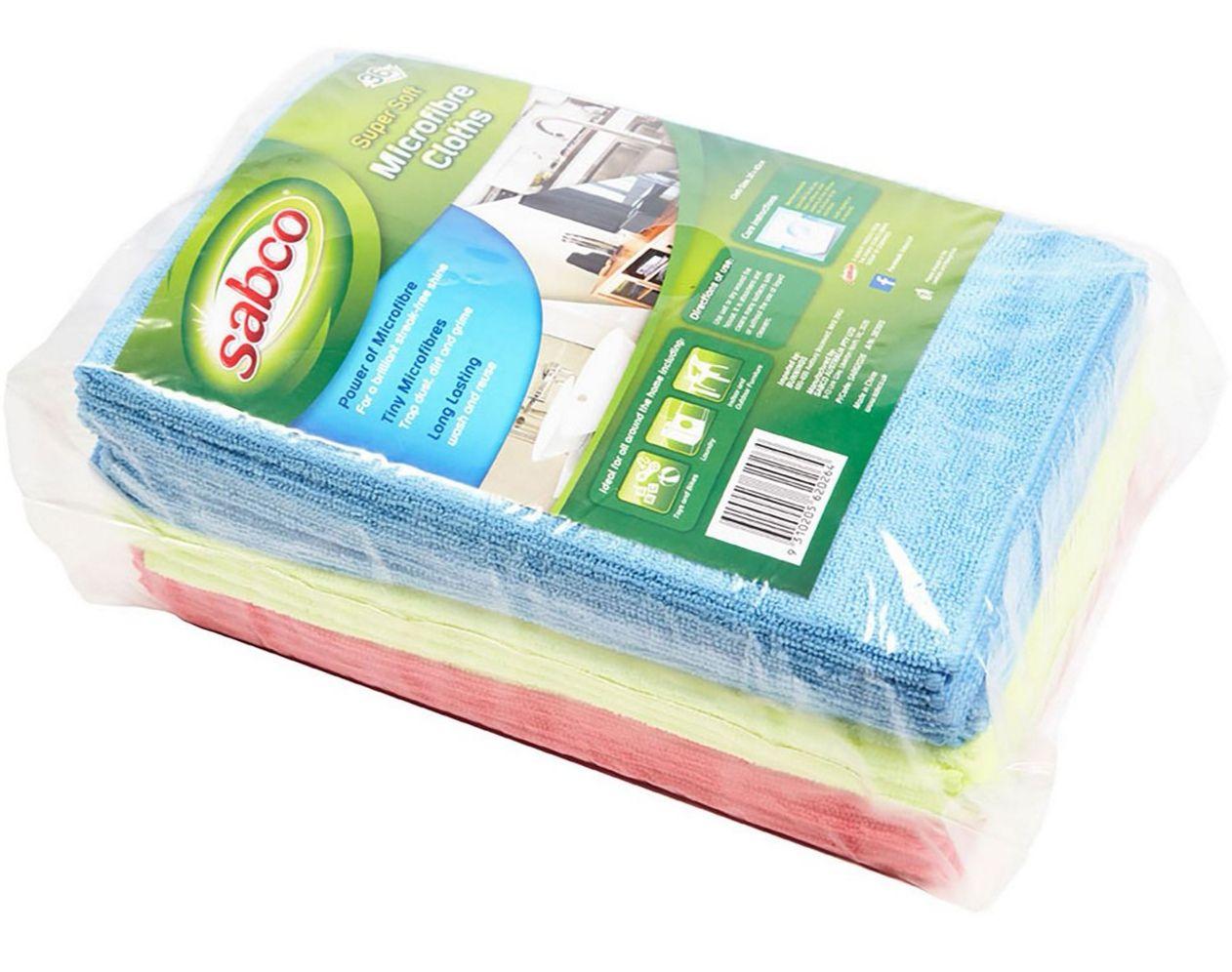 Sabco Microfibre Cloths - 36 Pack For £6.48 @ Homebase