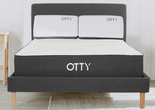 OTTY Superking Hybrid Mattress, Bed Frame & Deluxe Pillows Bundle - £999.99 @ Otty