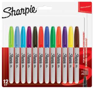 Sharpie Fine Markers Assorted Colours 12 pack - £6 + Free C&C @ Wilko