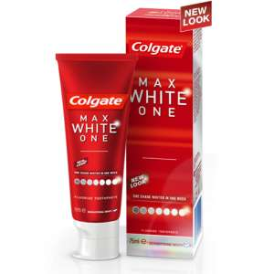Colgate Max White One Toothpaste, 75 ml (Pack of 2) only £2 [Add-on Item] at Amazon