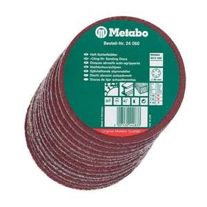 Metabo Sanding Discs 150MM Pack of 25 (60, 80, 120 GRIT) = £3.50 @ Anglia Tool Centre (free collection or £5.95 delivery)