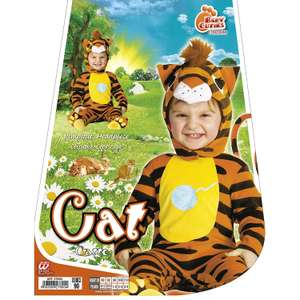 Children's Baby Tiger Cat Cutie Costume for Animal Jungle Farm Fancy Dress £4.36 @ Amazon (add on item)