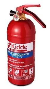 Kidde KS1KG Multi-Purpose Fire Extinguisher, Red, 1kg (285 x 95 x 125 mm) - £12.79 (Prime) £17.28 (Non-Prime) @ Amazon
