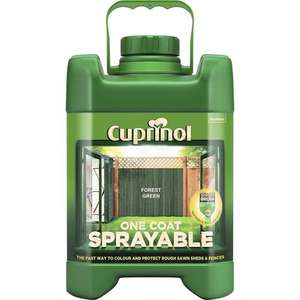 Cuprinol One Coat Forest Green Sprayable Fence Treatment 5L £2.15 @ Wilko Instore only