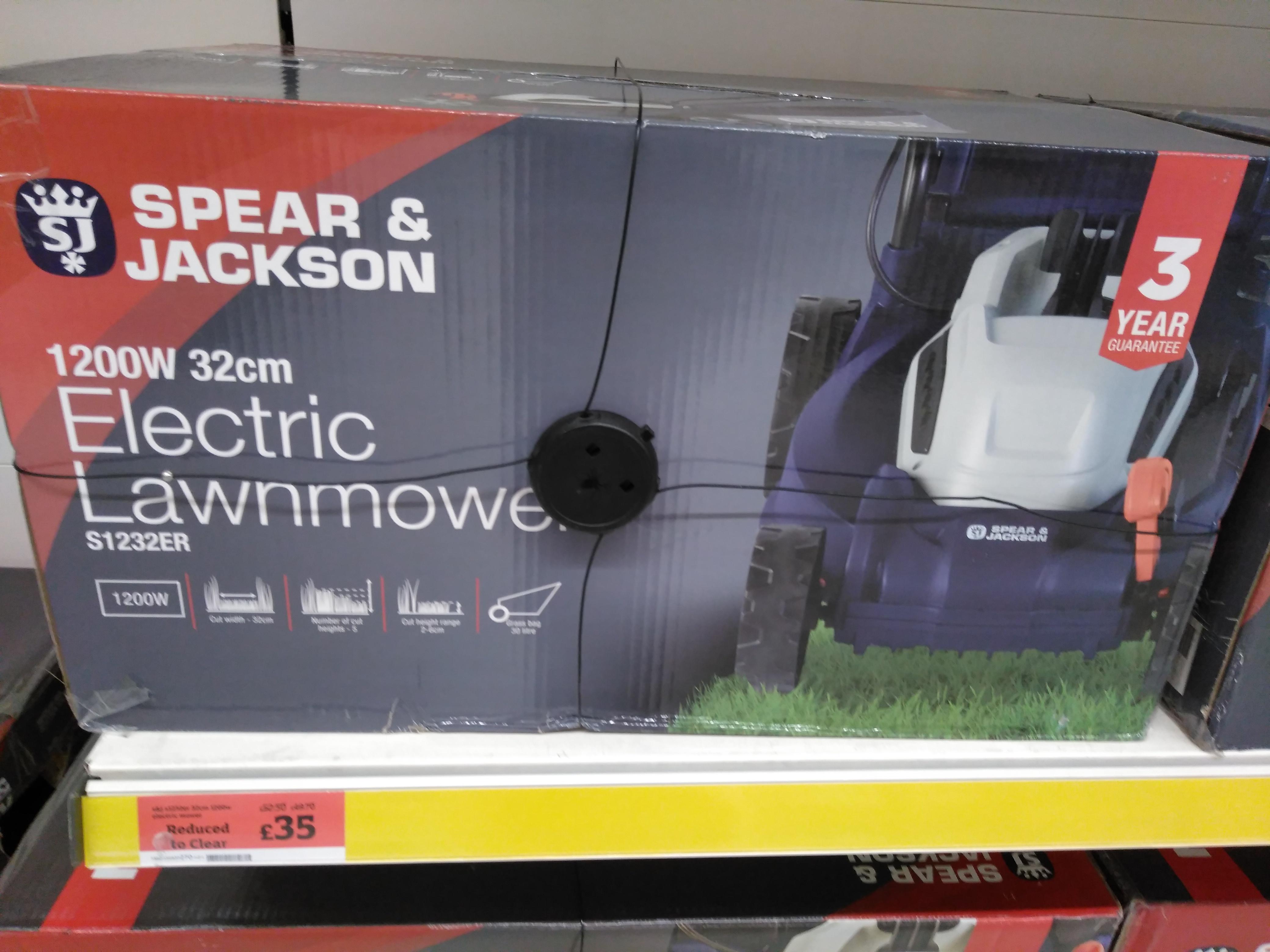 Sainsbury's-Spear&Jackson Electric Lawnmowe1600w £55.00 was £82.50
