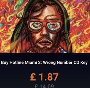 Hotline Miami 2: Wrong Number PC CD Key £1.87 from Gamivo