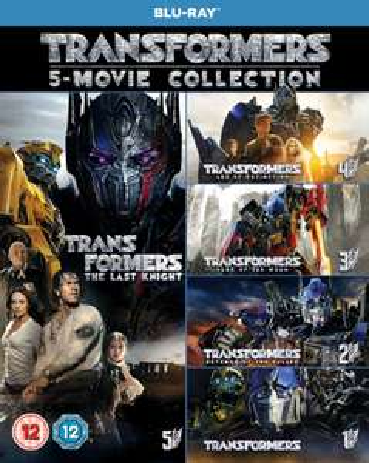 TRANSFORMERS: 5-Movie Collection + Bonus Disc Blu-Ray Boxset £13.79 (Prime) / £16.78 (non Prime) @ Amazon