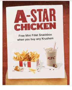Free Snack Box w/ ANY Krushem on the 15th August! - STUDENTS ONLY @ KFC (+ £2 Amazon Voucher w/ Student VoucherCodes)