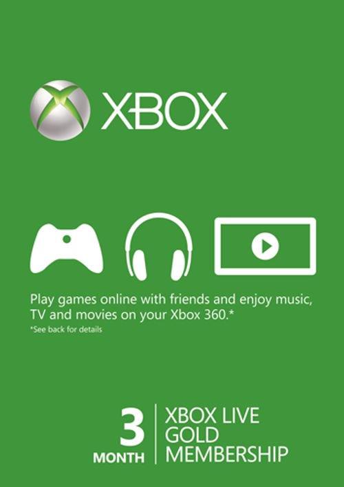 3 Month Xbox Live Gold Membership (Xbox One/360) £9.99 @ CDKEYS