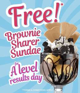 Free Sundae with A level result letter at Farmhouse Inns Thursday 15 August 2019 only