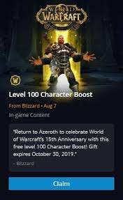 World of Warcraft - Free Upgrade To Level 100 (Inactive Users) @ Blizzard