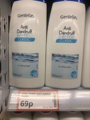Gentelles Anti Dandruff Shampoo 500 Ml Found Instore @ Poundstretcher (Great Yarmouth Town Centre) £0.69