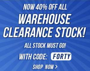 Extra 40% off warehouse clearance at County Golf