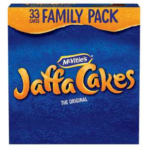 Jaffa Cakes (33) for £1.50 or 100 Jaffa Cakes for £4 at Iceland