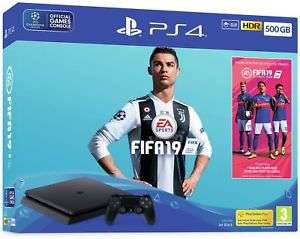 Sony Playstation PS4 500GB Console Black FIFA 19 Bundle manufacture Refurbished with a 12 month Argos guarantee £157.99 @ Argos eBay