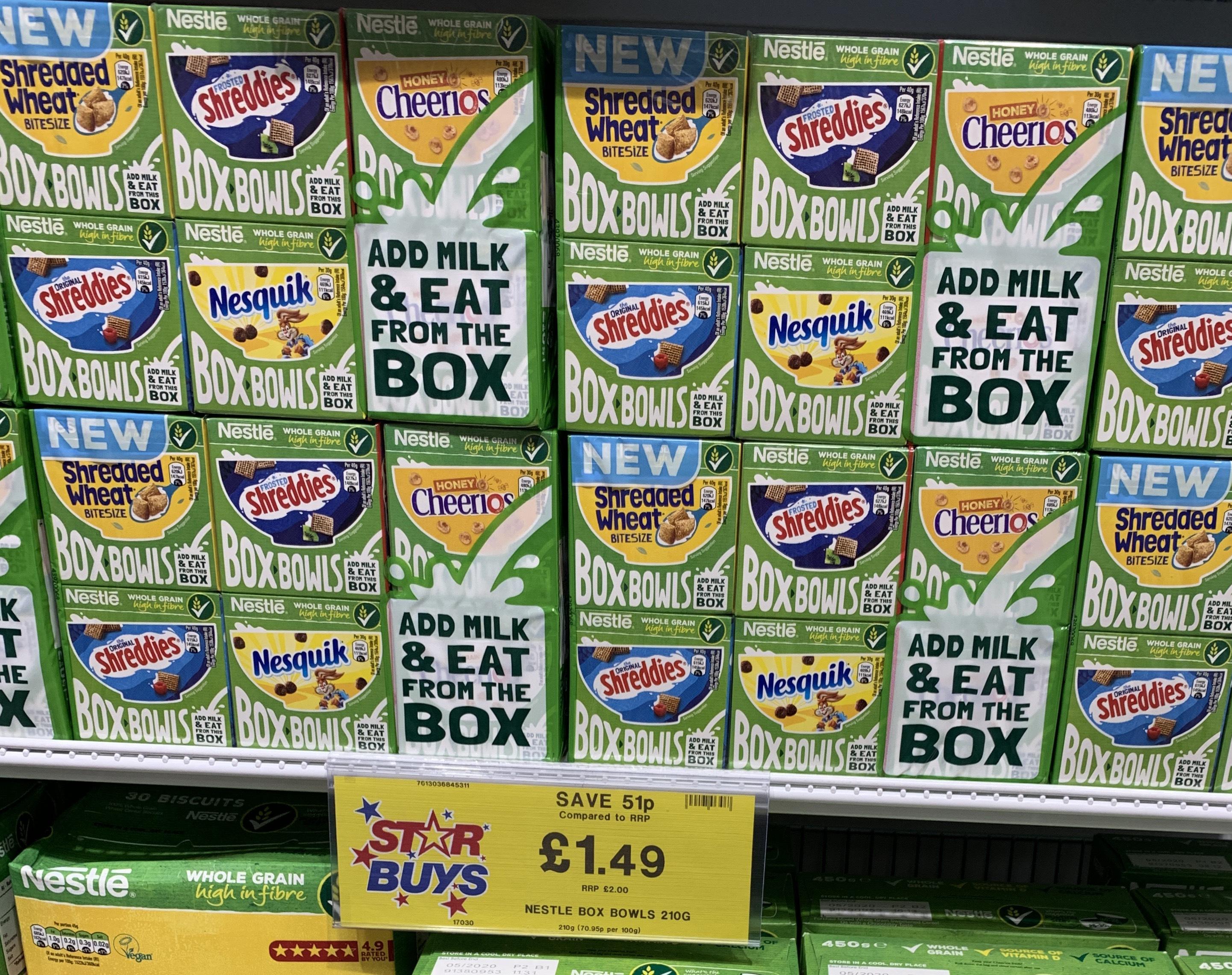 Nestle Box Bowls £1.49 instore - Home Bargains
