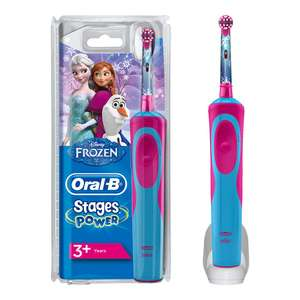 Oral-B Stages Power Kids Electric Toothbrush Featuring Frozen Characters, 1 Handle, 1 Brush Head, UK 2 Pin Plug for Ages 3+  £15 (Prime)