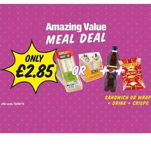 Meal deal now £2.85 @ Premier Stores (sandwich or wrap + drink and crisps)